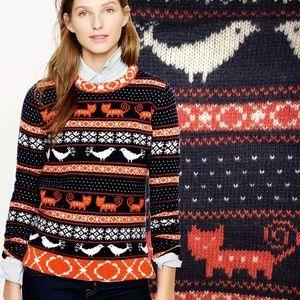 J. Crew Nordic Farmyard Fair Isle Sweater Size M